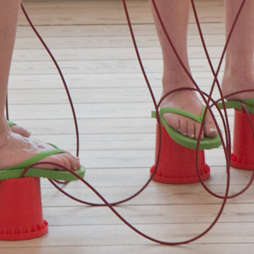 TBL Performance Devious Step - TBL bucket stillts shoes close up