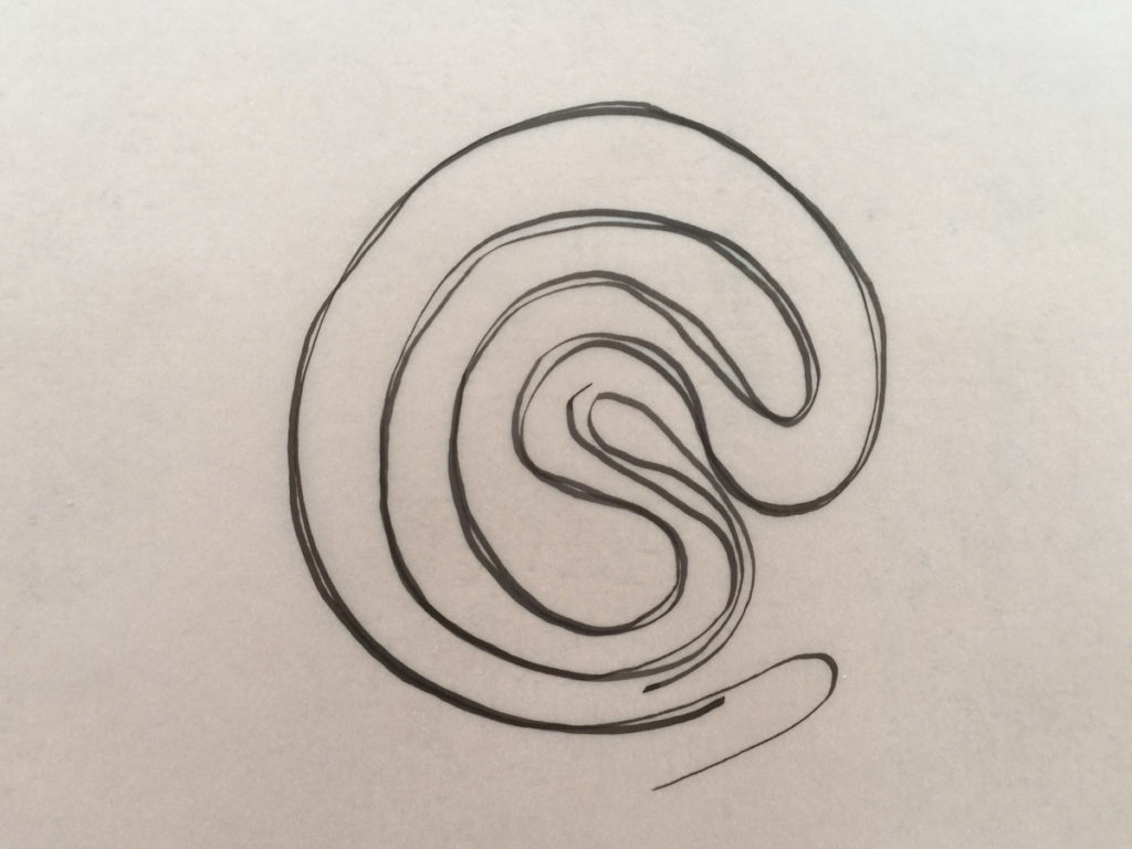 TBL Shape Long Walk - labyrinth